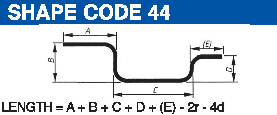 Shape codes 44